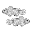 clown fish coloring book for adults vector image