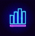 column graph neon sign vector image vector image