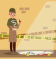 crime scene detective at crime scene flat vector image vector image