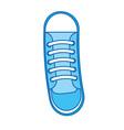 cute blue icon shoe cartoon vector image vector image