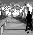 Cycling in the park vector image vector image