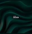 dark green curvy pattern surface vector image