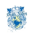 Death valley vector image