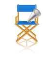 Director chair and loudspeaker vector image vector image