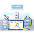 e-learning concept for application development vector image vector image