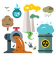 environment pollution ecology flat style vector image