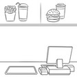 fast food restaurant coloring book vector image