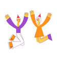 flat man woman dancing at party vector image vector image