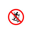forbidden sleigh skiing icon can be used for web vector image vector image