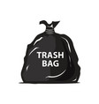 garbage bag icon vector image vector image