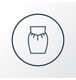 garment icon line symbol premium quality isolated vector image vector image