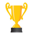 gold cup winner on white background vector image
