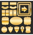 Gold elements vector image vector image