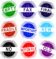 Grunge Stamps Set of 9 office stamps 2 of 4 vector image vector image