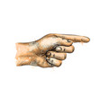 hand pointing pointing finger from a splash vector image