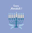 happy hanukkah greeting card vector image vector image