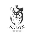 icon template for dogs store vector image vector image