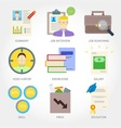 Job searching flat design icon vector image vector image