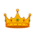 luxury crown hand drawn vector image vector image