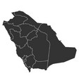 map of saudi arabia in high resolution vector image vector image