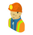 miner man asian icon isometric 3d style vector image