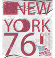 new york fashion style tee art typography design vector image vector image