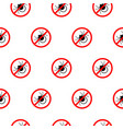no mite sign pattern repeat seamless in black vector image vector image