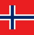 norwegian flag flat layout vector image