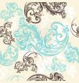ornamental seamless wallpaper pattern vector image vector image