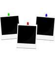 Polaroid frames set vector image