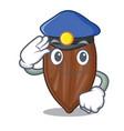 police pecan nuts on a cartoon table vector image vector image