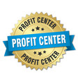 profit center round isolated gold badge vector image vector image