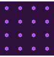 Purple Seamless Pattern with Lilac Roses vector image