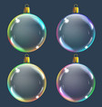 realistic transparent colored christmas balsl on vector image vector image