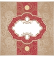 Red and Gold Paisley Square Envelope vector image vector image