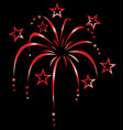 red stylized fireworks vector image vector image