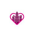 romance town logo icon design vector image vector image