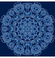 Round floral design blue snowflake vector image vector image