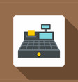 sale cash register icon flat style vector image vector image