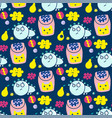 seamless pattern household items toys cactus vector image vector image