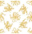 seamless pattern with hand drawn pastel ylang vector image vector image