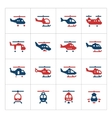 Set color icons of helicopters vector image vector image