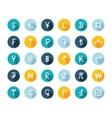 Set Currency Symbols vector image