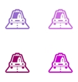 Set of paper stickers on white background Cock vector image vector image