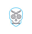 skull mask linear icon concept skull mask line vector image vector image