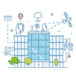 Smart modern city and internet of things vector image vector image