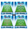 soccer team player plan group d with flags vector image vector image