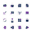 style and clean icons pack for webdesign or mobile vector image vector image