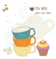 Tea menu vector image vector image
