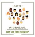 the heart of friends of different genders and vector image vector image